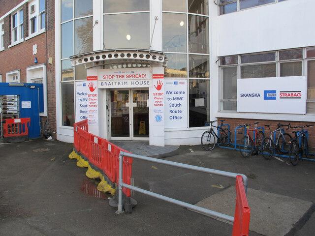 Braitrim House as HS2 construction site office