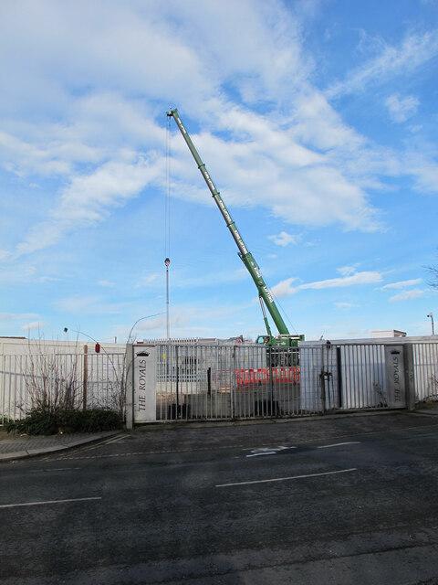 HS2 Atlas Road construction site with crane