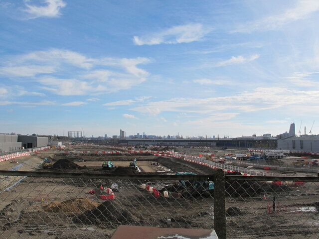 HS2 Old Oak Common Station site from Old Oak Common Lane