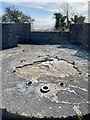 ST1867 : Gun emplacement by Alan Hughes