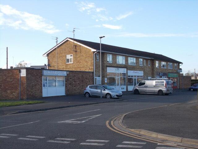 Row of shops on Canterbury Road, Werrington