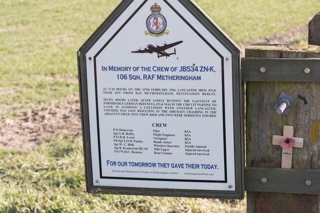 RAF Memorial near Timberland