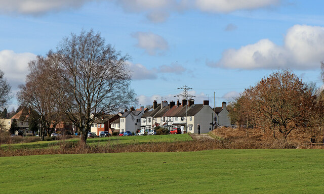 Golf course and housing by Penn Common, Staffordshire