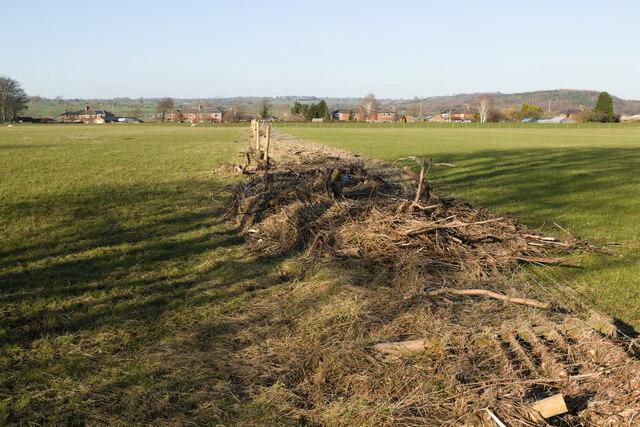 Flood damaged fence, Rotherford