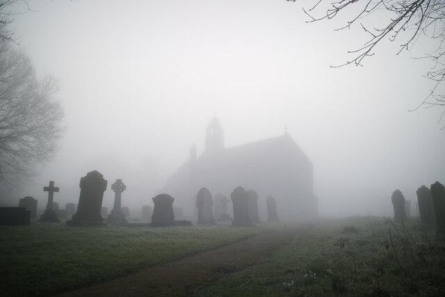 St Mary's Churchyard in the fog