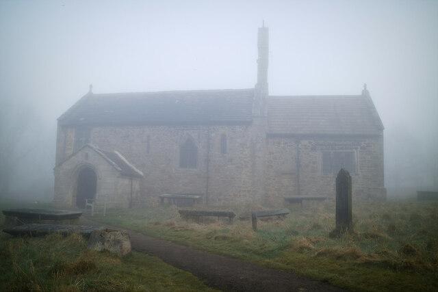 St Mary's Church in the fog