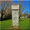 TL9148 : Lavenham village sign near the church by Adrian S Pye
