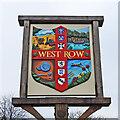 TL6775 : West Row village sign by Adrian S Pye