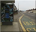 ST3090 : Chocolate advert on a Malpas Road bus shelter, Newport by Jaggery