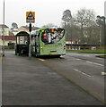 ST2991 : Oliphant Circle bus terminus, Malpas, Newport by Jaggery