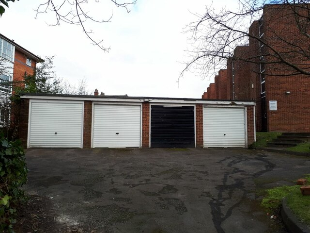 Lock up garages round the back of Mountfields