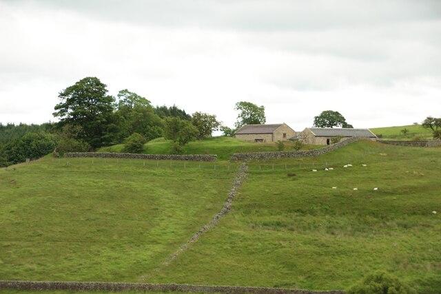 View across the valley toward John O'Gaunt's Castle