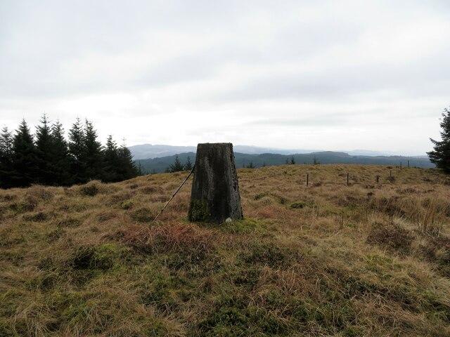 Gearran trig pillar on Cruach nan Gearran