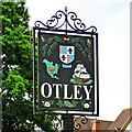 TM2055 : Otley village sign by Adrian S Pye