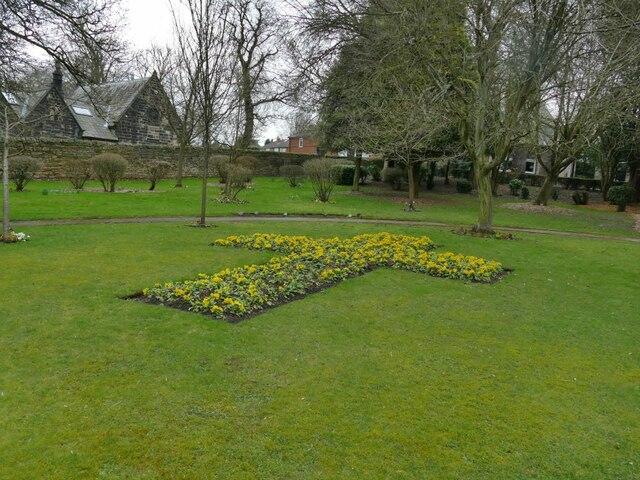 Flower cross,  Rawdon Crematorium