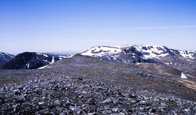 Rocks and stones at summit area of Carn Dearg