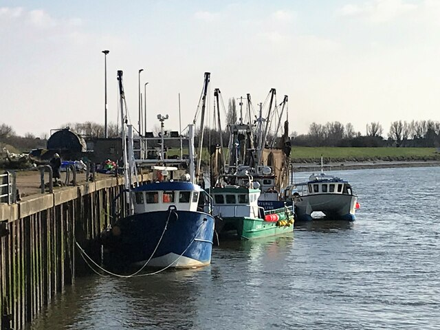 Fishing boats moored at Boal Quay in King's Lynn