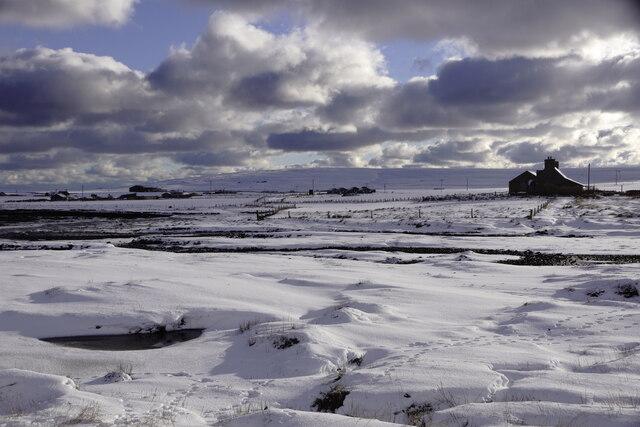 Voehead, Baltasound, in the snow