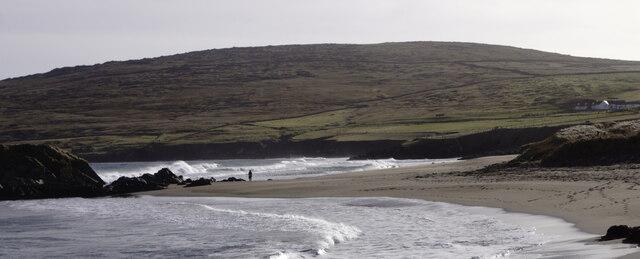 Lone figure on Norwick beach