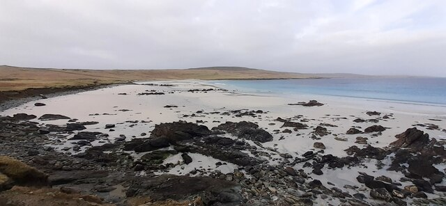 A low tide at Easting beach