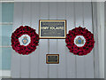 NG7627 : Iolaire memorial,  Kyle of Lochalsh station by Stephen Craven