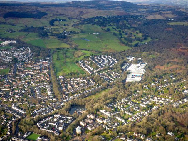 Milngavie from the air