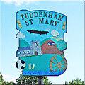 TL7371 : Tuddenham St Mary village sign by Adrian S Pye