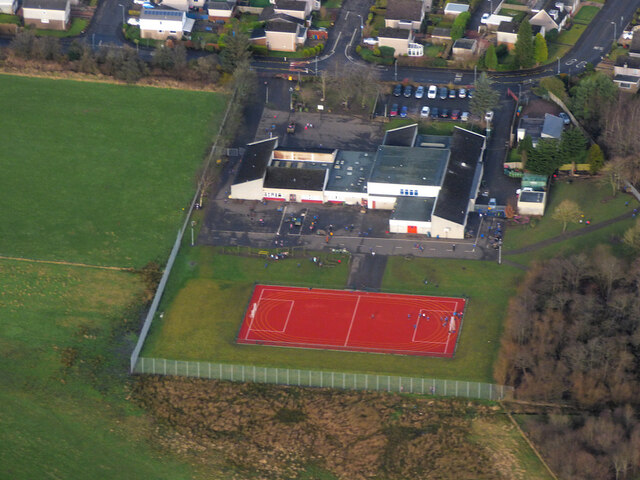 Craigdhu Primary School from the air