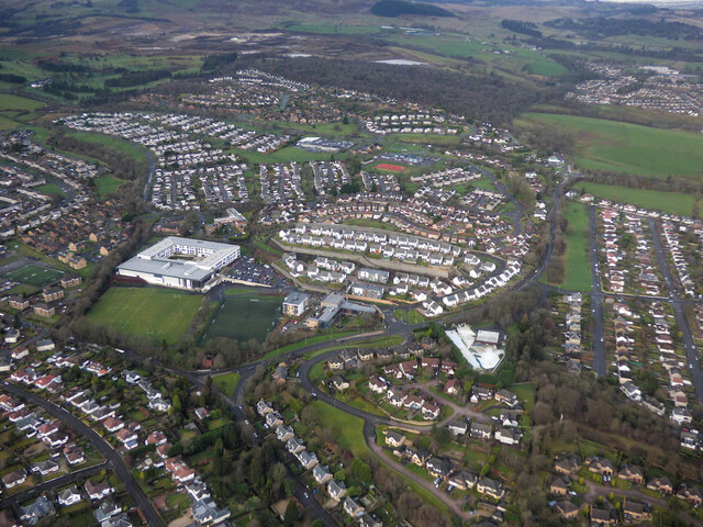 Bearsden from the air
