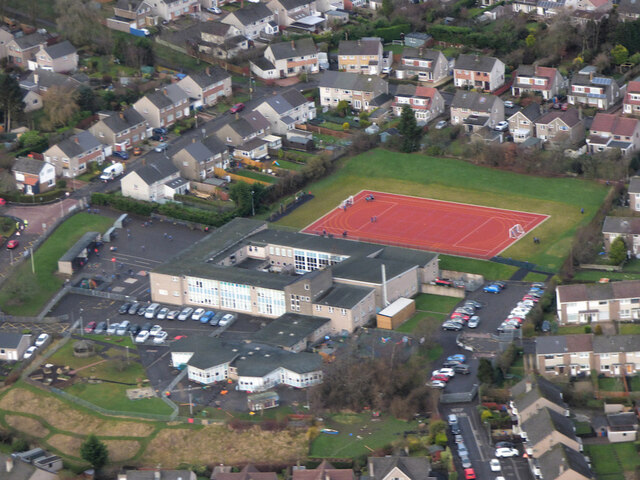 Castlehill Primary School from the air