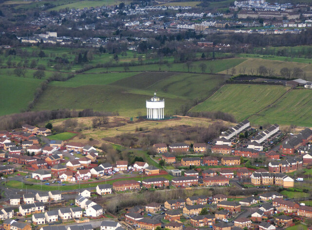 Drumchapel from the air
