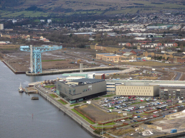 Clydebank Leisure Centre from the air
