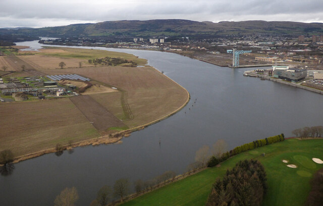 River Cart and River Clyde from the air