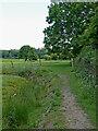 SP3394 : Footpath towards Hartshill in Warwickshire by Roger  Kidd