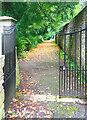 ST7475 : Churchyard Gates, Dyrham Park by Des Blenkinsopp