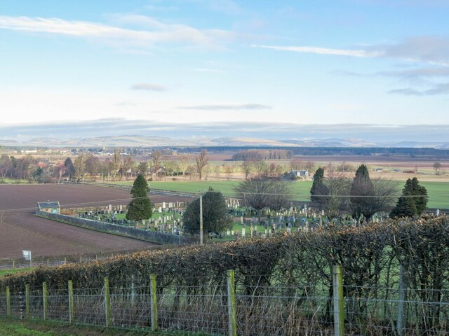 Kingskettle Cemetery from Kettle Hill
