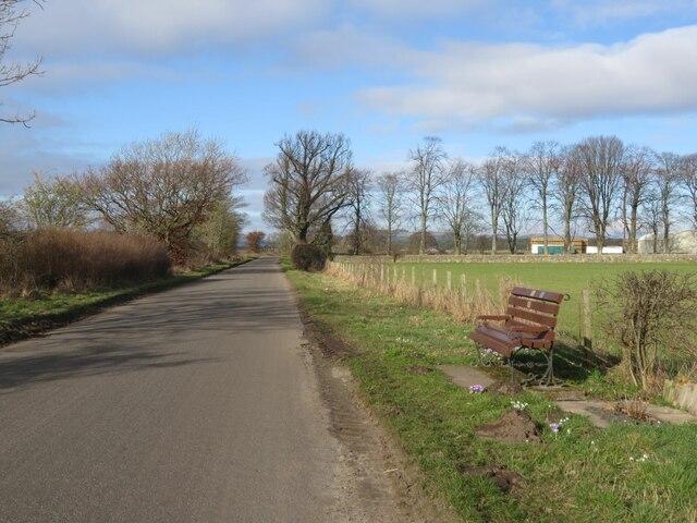 Bench on Lathrisk Road, near Freuchie
