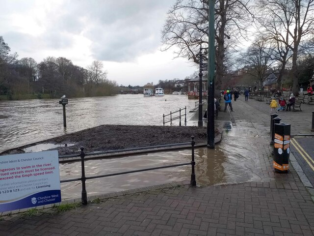 River Dee in Flood, Chester