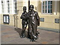 SD2878 : The Laurel and Hardy statue, Ulverston by Adrian Taylor