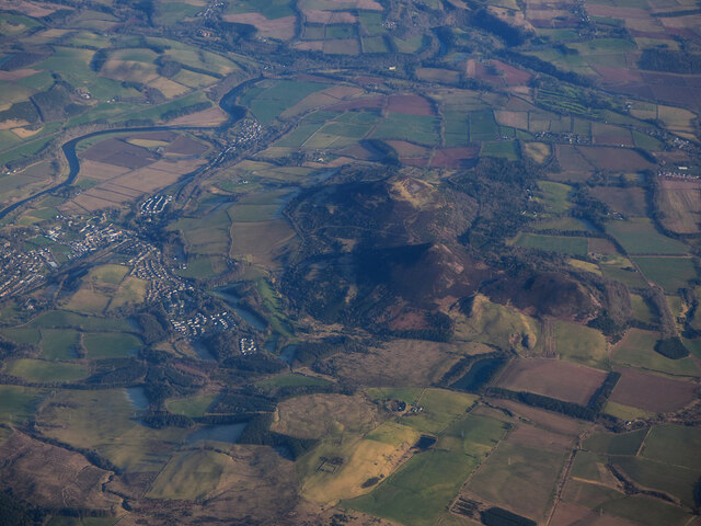 The Eildon Hills from the air