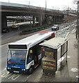 ST3089 : Stagecoach bus 47643 at a Malpas Road bus stop, Crindau, Newport by Jaggery