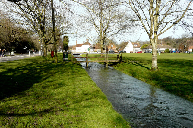 The Nail Bourne in flood