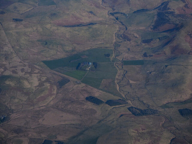 Pennymuir Roman Camps from the air