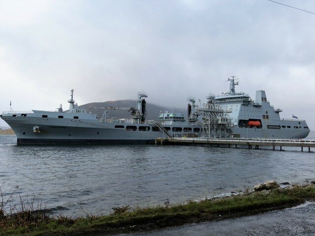 Royal Fleet Auxiliary vessel Tide Spring at Loch Striven