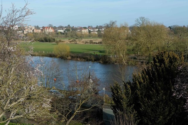 View towards the meadows after the flood