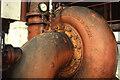 SK2083 : Bamford Mill - water turbine by Chris Allen