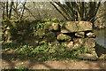 SX7963 : Stone groyne by the Dart by Derek Harper