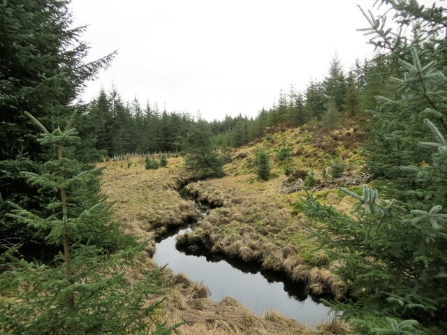 Infant River Aray which flows into Loch Fyne at Inveraray