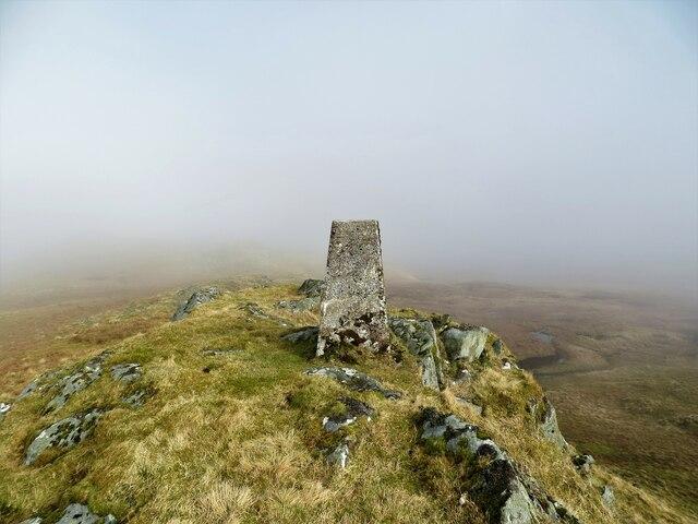 Trig pillar on Cruach na Gearr-choise 570m