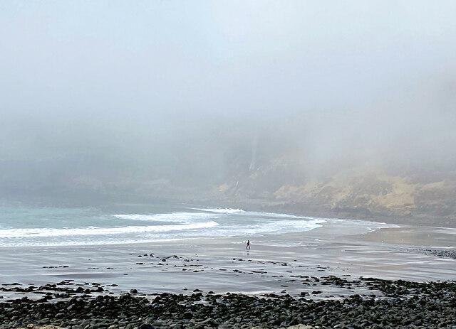 Lone surfer at Talisker